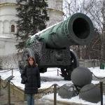 The Tsar's Cannon - yes, it was huge!