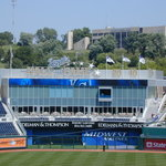 The Royals' Hall of Fame overlooks left field