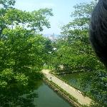 Loisir from Joetsu castle -tall white building