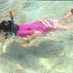 my daughter snorkling