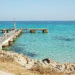 A pier near Cala Millor beach