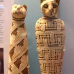 Un gatete momificado en el Museo Britanico, fijaos que carita de pena...