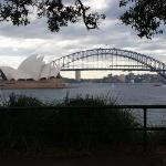 Opera House e Harbour Bridge da Mrs Macquires Point