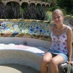 im Gaudi Park in Barcelona
