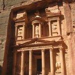 "The Treasury - al Khazneh. In one of the movies Indiana Jones was running around here.  ""India"
