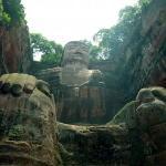 Leshan Giant Buddha (Da Fo) ภาพถ่าย