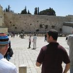 Meeting up with Baruch at the Kotel.