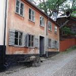 Skansen - Museo al aire libre mas grande del mundo.  Esta parte tiene edificios tipicos de las