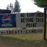 Treaty line at La Push