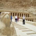 Horus at the beginning of the temple!