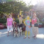 Sarah Gunter and my mum in Down Town Disney. Florida Dec 08