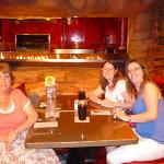 My mum, Sarah Gunter and Me in the T Rex Cafe, Down Town Disney. Flordia Dec 08
