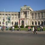 Hofburg Palace.  Currently National Museum.  Actually the site were Hitler had his speech when