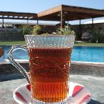 Tea for breakfast at the pool?