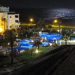 Vista nocturna desde el Hotel Almerimar