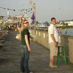 Out on the pier after dinner