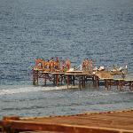 Il pontile di accesso al mare aperto