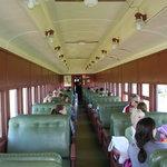 Inside the 1934 passenger car