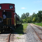 Tour the caboose while at the station