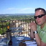 Lunch on restaurant terrace