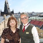 With the Concierge & a view of the city