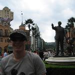 Statue of Walt and Mickey.
