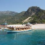 Olu Deniz beach - done boat trip which left from here
