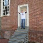 SPC Algreen doing the Rocky stairs in Independence Hall