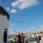 the proof that we are in Mykonos, Greece
