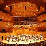 The interior of the Gasteig building, including the Munich Symphony Orchestra. We got tickets to