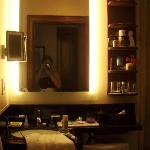 the bathroom with motion sensor lights :D