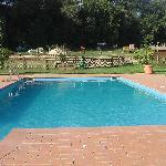 la piscina alle 8 del mattino