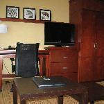 flat screen tv and desk