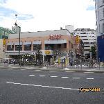 Main street just steps away from Taito Ryokan