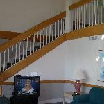 stairway up to loft and 2 more bedrooms