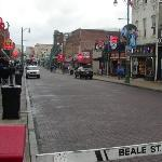 Historic Beale Street - closed to most traffic the street becomes a pedestrian mall with Blues C