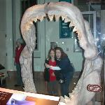 Kayce and Jen in the Sharks mouth