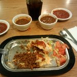 Ground Beef Burrito Plate ($7.25)
