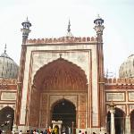 Jama masjid, the biggest mosque in India.