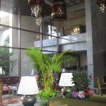 The lobby of The Oriental hotel..one of the best hotels in the world (always makes like the #1 s