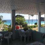 La veranda e la vista dalla casa di Joab