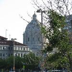The capitol from the parking lot