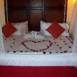 Our bed upon arrival.