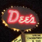 Dee's - Neon Sign at Night