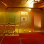 kinpaku (gold-leaf) factory in kanazawa. pretty cool - demonstration room.