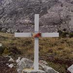 The spot where the body of Sgt Ian Mackay VC was found surrounded by dead Argies. He had single