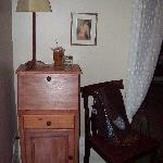Writing desk in the bedroom