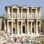 The Library in Ephesus.  There was an underground tunnel to the brothel across.  Men would go to