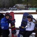 Ben and Katie snowboarding in Big Bear, Winter 2008