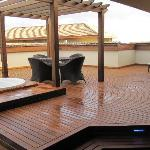 1 of 2 roof decks of our presidential suite.